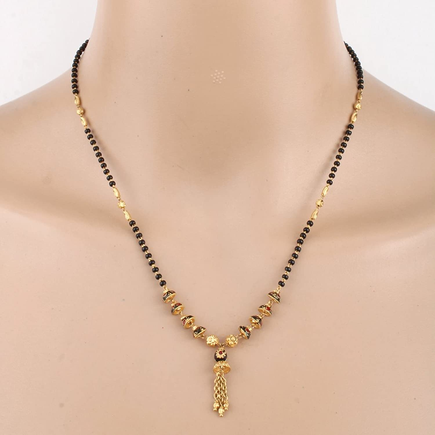 Buy WHP 22K Yellow Gold Traditional Mangalsutra Online at Low ...