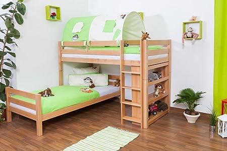 Etagenbett Moritz Weiss : Kinderbett etagenbett moritz l buche vollholz massiv natur mit