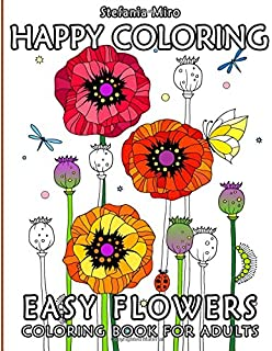 Happy Coloring Easy Flowers