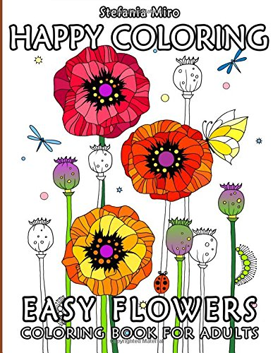 Happy Coloring Easy Flowers Adults product image