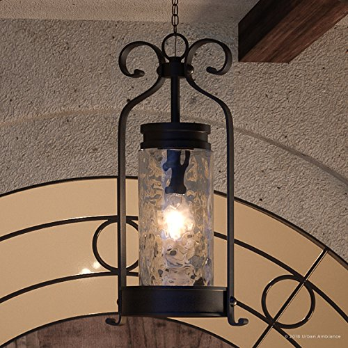 Luxury Tuscan Outdoor Pendant Light, Large Size: 26.5