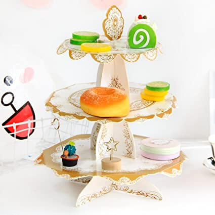 Amazon.com | 3 Tiered Cake Stand | Vintage Cupcake Wedding Cake ...