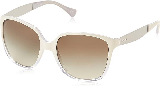 Ralph Lauren 0ra5173 - Gafa de sol cuadrada color blanco con lentes color gris espejo, 56 mm: Amazon.es: Ropa y accesorios