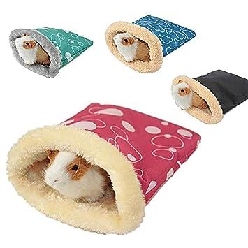Saco de Dormir de Hámster Felpa Caliente para Cerdo, Gato Cobaya Erizo Mascotas Pequeñas Accesorios de Cama Invierno(Color al Azar: Amazon.es: Hogar