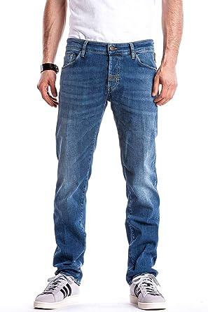 Jeans Maner per Uomo vestibilit/à Slim MeltinPot Modello affusolato Vita Regular