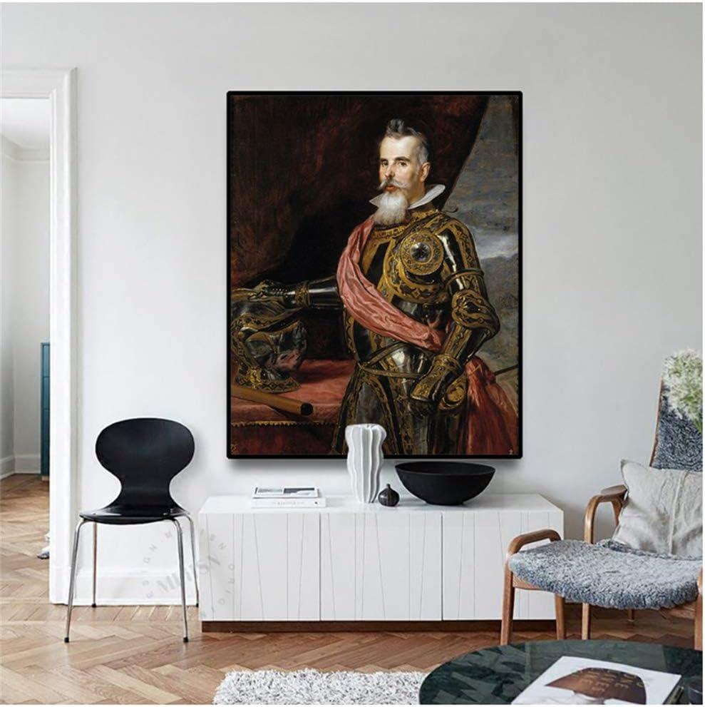 Cuadro en Lienzo《Retrato De Don Juan Franciscopimentel, Conde De Benavente》Diego Velazquez Art Picture Wall Decor 70x56cm Sin Marco