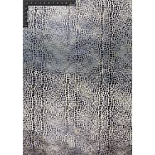 Crocodile Polyester Velvet Bronzing Designer Animal Print Fabric by the Yard