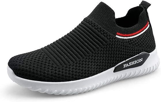 CNBKMG Calcetines Zapatillas De Running para Mujer Zapatos Planos Transpirables Zapatillas Deportivas Zapatillas De Deporte con Medias Elásticas Rosadas/Negras Calzado para Mujer-Black,37: Amazon.es: Deportes y aire libre