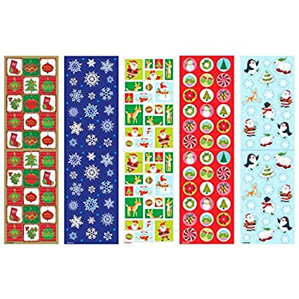 Multicolor 350 Stickers of Fun 10 1//4 by 3 2-Pack: 700 Stickers Amscan Christmas Paper Sticker Big Pack