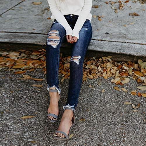 Pantalones Vestir impresión Pantalones de Pantalones la Vaqueros elástico Pantalones de lápiz Jeans Mujer Pantalones fit Mujer Slim Mujer Vaqueros elásticos de Largos Flaco Vaqueros Moda Stretch CFW648x