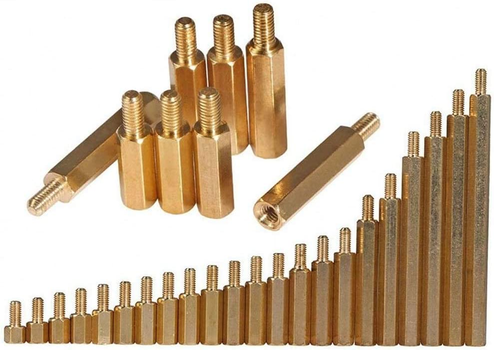 M3 Hex Brass Spacer Screw PC Case Motherboard Standoff Riser Female-Male Screws