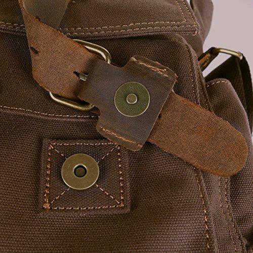 Peacechaos Messenger Bag Leather Canvas Shoulder Bookbag Laptop Bag + Dslr  Slr Camera Canvas Shoulder Bag ¡ 57aff04f2a