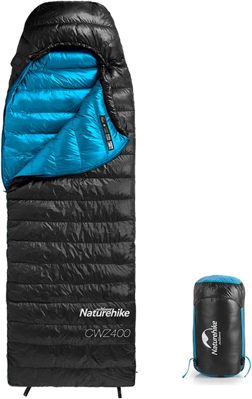 Naturehike Ultralight Goose Down Sleeping Bag Cold Weather 750 Fill Power 4 Season Waterproof Compact for Adults & Kids - Camping, Backpacking, Hiking, Traveling, Outdoor with Compression Sack