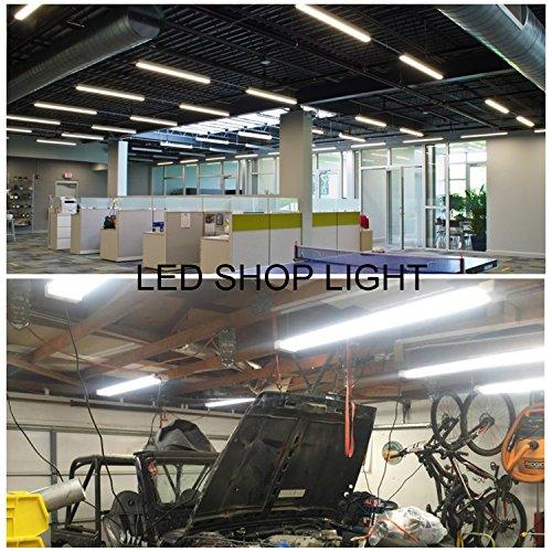 (Pack Of 4)4ft 45 Watt Extendable Utility LED Shop Light