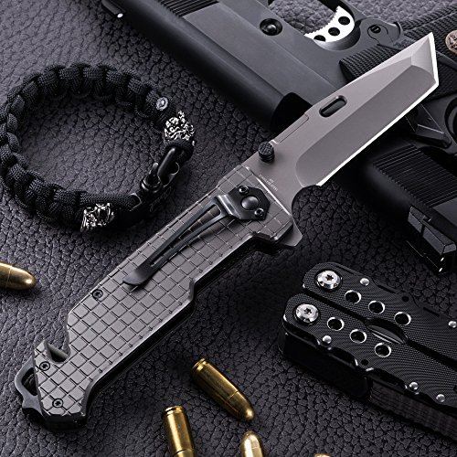 Grand Way Tanto Spring Assisted Pocket Knife - Pocket Folding Knife - Military Style - Boy Scouts Knife - Tactical Knife - Good for Camping, Indoor and Outdoor Activities FL 13069 by Grand Way (Image #3)