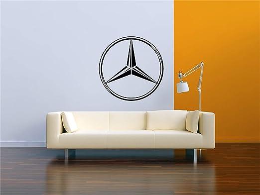 pegatinas de pared juveniles Mercedes Logo Garage Vinilos ...