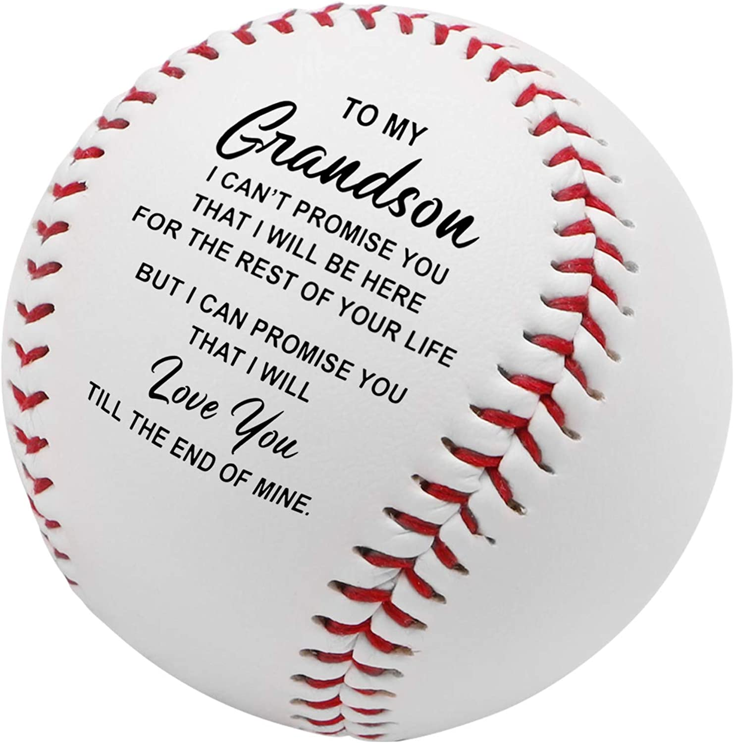 from Dad K KENON Personalized Printed Baseball for Son Enioy The Ride and Never Forget Your Way Back Home for Son Graduation Gift from Mom