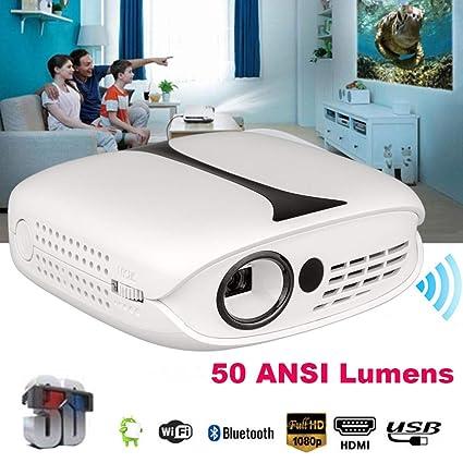 MMLC - Proyector DLP (50 lúmenes ANSI, 1080 p, Full HD, LED, 3D ...