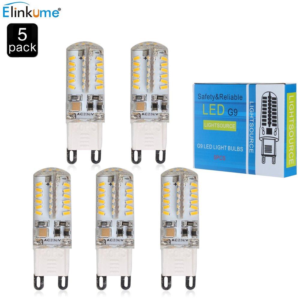 MUMENG® 5 Packs G9 Dimmbar LED Leuchtmittel, Warmweiß 3200K, 3.5W ...