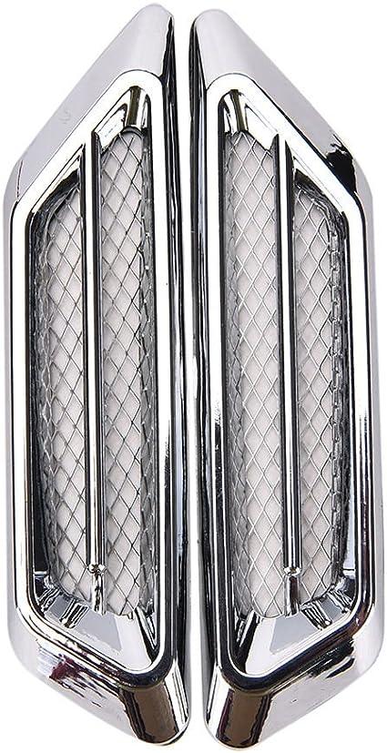 2pcs Chrome Plated Auto Car SUV Air Flow Fender Side Vent Decoration Stickers