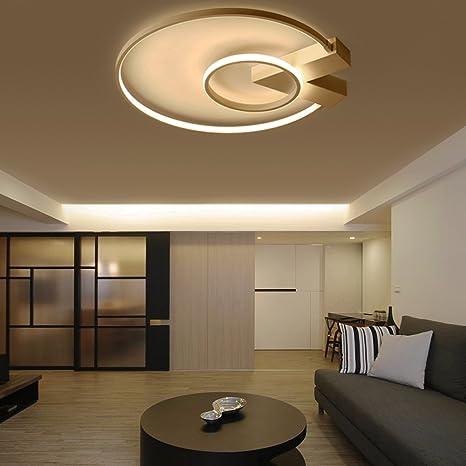 Modern LED 2 Anillo plafón Ultraslim Diseño Lámpara de techo ...