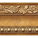 Flower Molding Peel and Stick Wall Border Easy to Apply (Gold Brown)