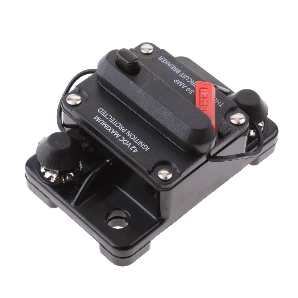 MagiDeal 50 Amp Manual Reset Circuit Breaker Switch 12V-42V Car SUV Marine Boat