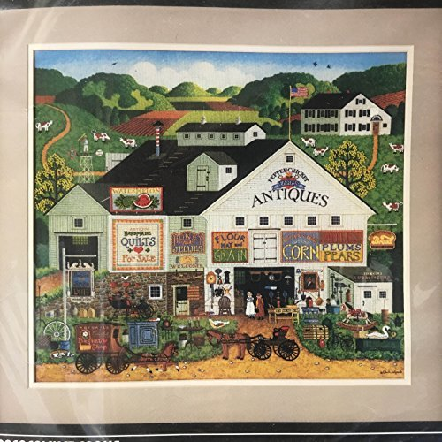 Dimensions by Charles Wysocki Peppercricket Farms Crewel Stitch Kit #1320 Retired / Vintage 1986 / Made in USA by Dimensions