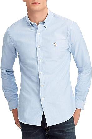 Polo Ralph Lauren Camisa Oxford Azul para Hombre L Azul: Amazon.es: Ropa y accesorios