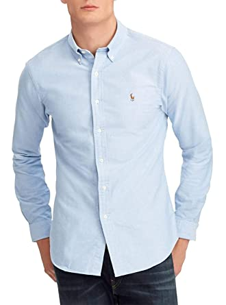 6180a72bed554 Ralph Lauren Chemise Oxford Bleu Slim fit pour Homme: Amazon.fr ...