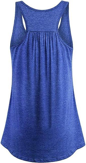 Mujer Camiseta Tirantes Verano Deporte de Gimnasio Camisa Blusa Casual Tops Suelta Camisetas Deporte Fitness Sujetador Deportivo para Mujeres: Amazon.es: Ropa y accesorios