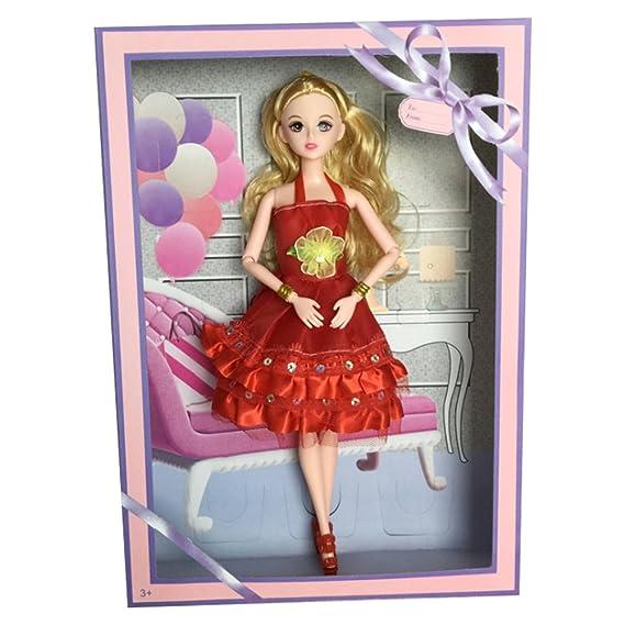 mi ji Ropa para Muñeca Barbie,Vestidos Barbie para Fiesta Falda Hecho a Mano Accesorios