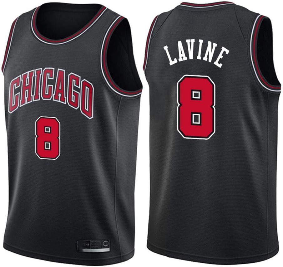 AMJUNM Hombre Mujer Ropa de Baloncesto NBA Chicago Bulls 8# LaVine ...