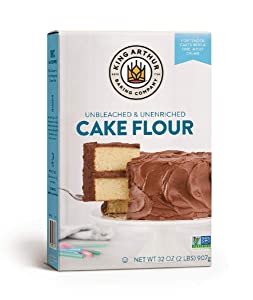 King Arthur Unbleached Cake Flour Blend, 2 Pounds (Pack of 6) - Packaging May Vary