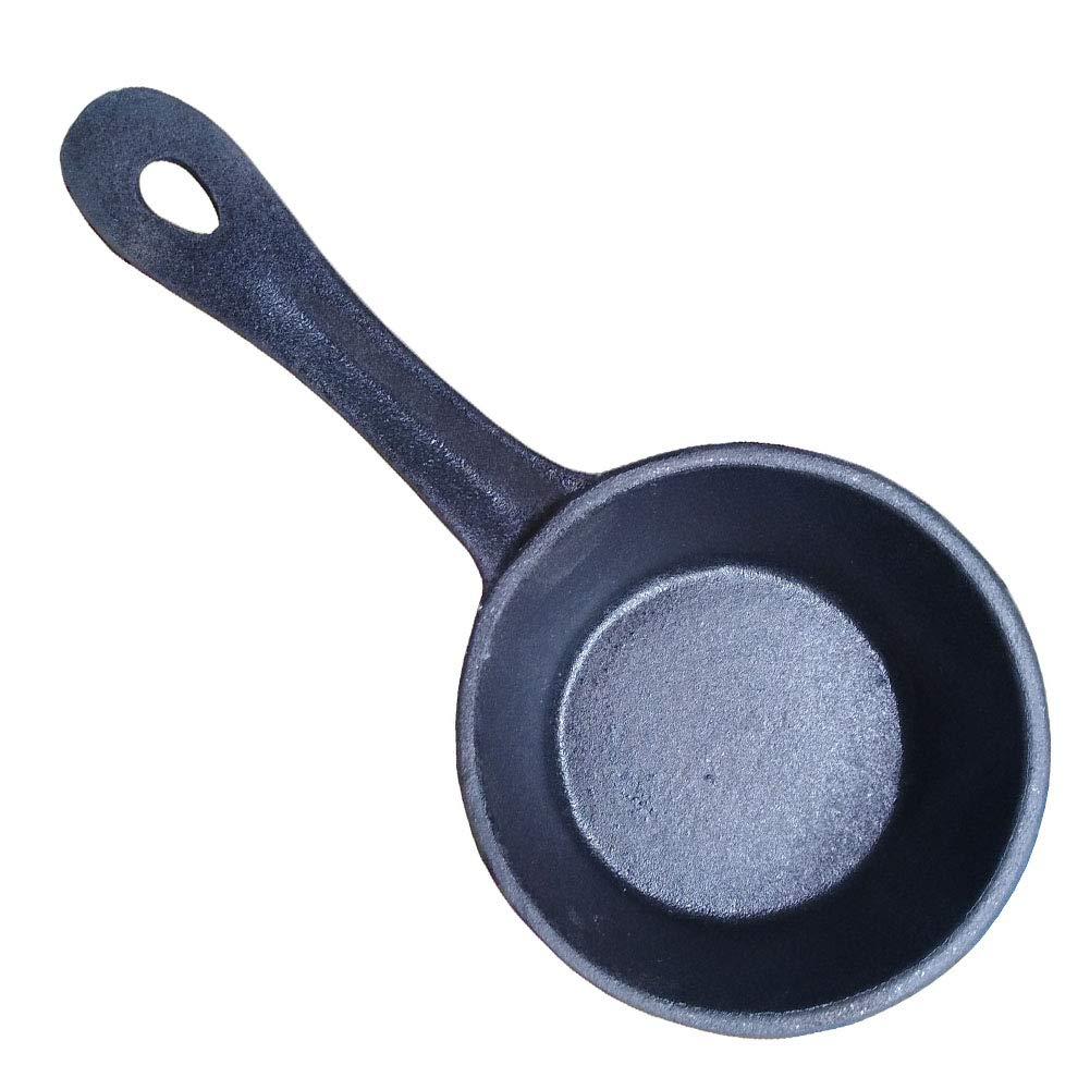 HAWOK 3.8inch Cast Iron Melting Pot Pre-Seasoned Sauce pan