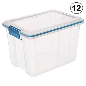STERILITE 19324306 20-Quart Storage Container Box Tote (12 Pack)