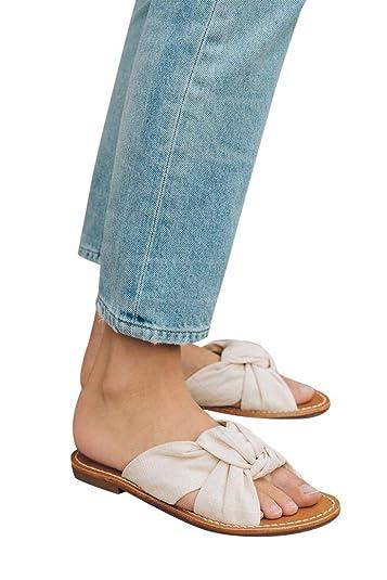 e22a2bd25d14 Soludos - Women s Linen Knotted Slide Sandal - Blush - 6 Beige