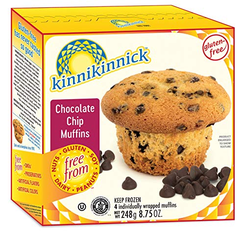 Kinnikinnick Foods Gluten Free Chocolate Chip Muffin, 10 Oz -- Pack of 4