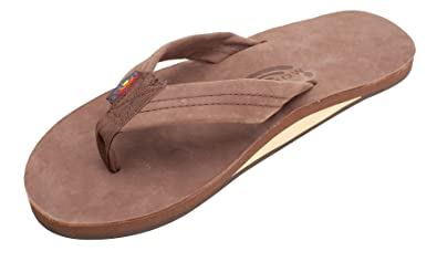 05cdcf857 Rainbow Sandals Men's Premier Leather Single Layer Wide Strap with Arch,  Expresso, Men's Small