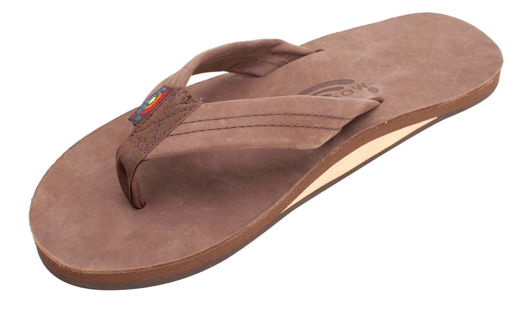 Rainbow Sandals Single Layer Premier Leather Men's Sandal (Expresso) Size 11/12 (XL)
