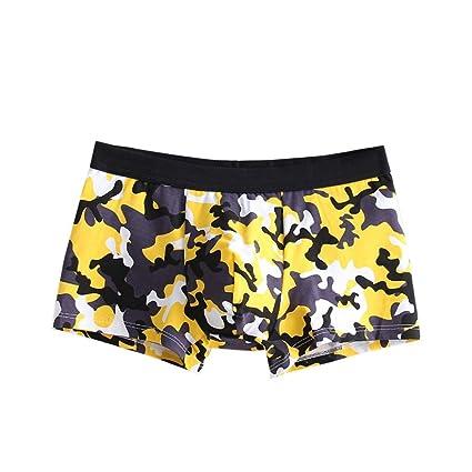 Bóxers Hombre, Manadlian Sexy Boxer ropa interior Algodón Suave pantalones cortos calzoncillos para hombres (