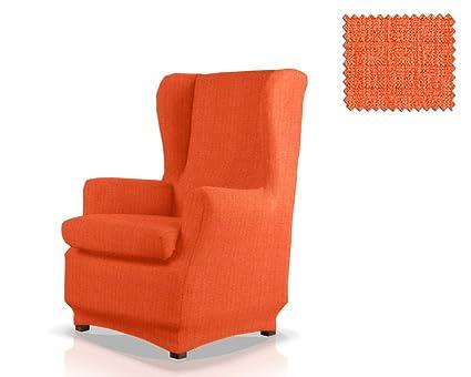 JM Textil Funda de sillón orejero elástica Bastet Tamaño 1 Plaza (Estándar), Color 19