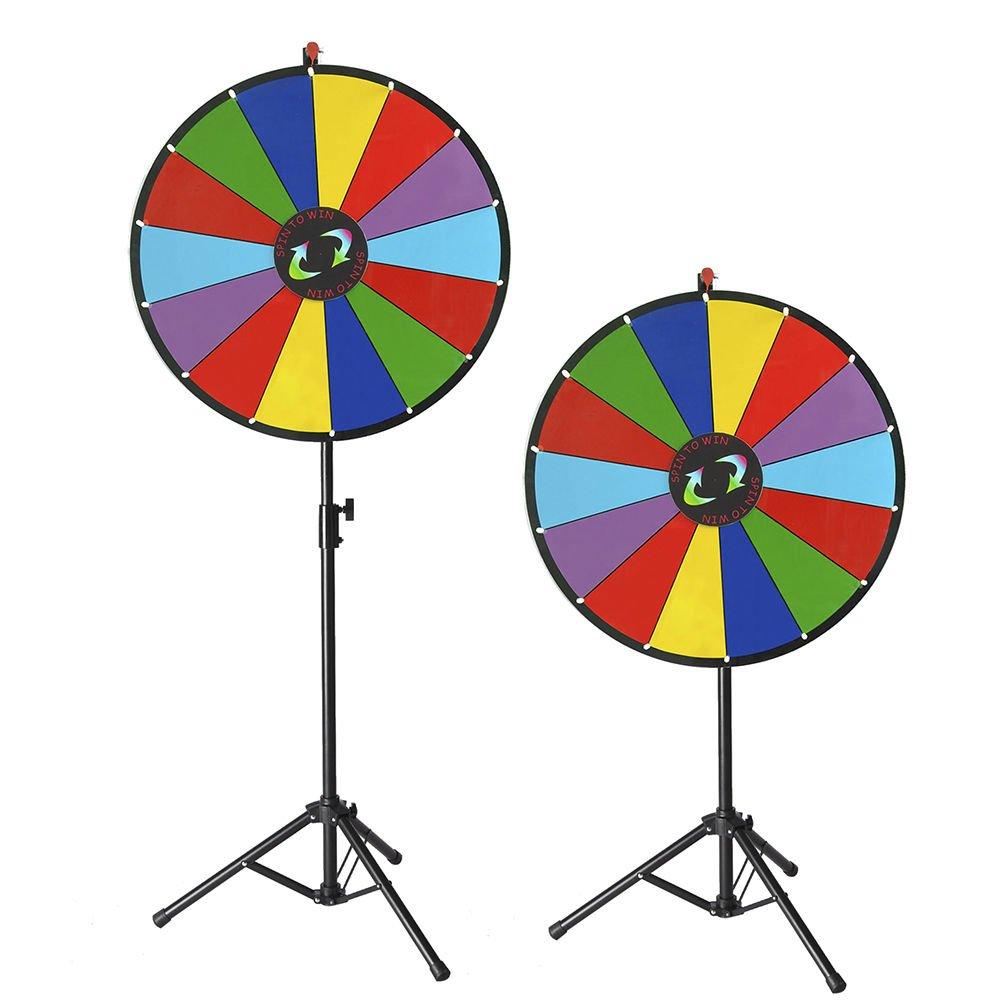 Generic NV_1008004096_YC-US2 <8&40961> ig GameFolding Tri w Folding Tripod 24'' Color Floor Stand Prize Wheel Fortune Carnival Spinnig Game 24'' Color P
