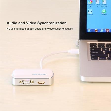 SM SunniMix Convertidor De Adaptador Mini DP A HDMI VGA para Macbook Surface Pro 3 Pro 4 Eléctrica industrial
