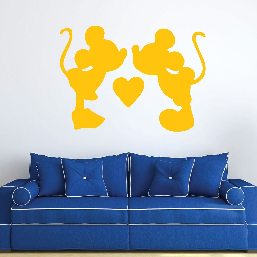 Amazon.com: Disney Wall Decals Mickey and Minnie Vinyl Wall Art for ...