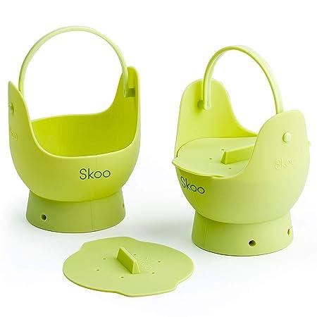 Skoo - Juego de 2 hueveras de silicona + tapas + libro ...