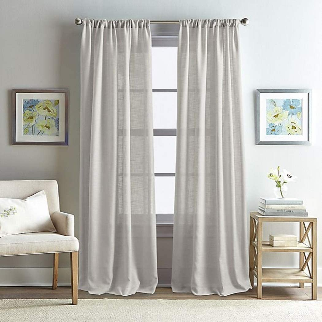 Peri Home Rose Garden Solid 108-Inch Rod Pocket Window Curtain Panel in Grey