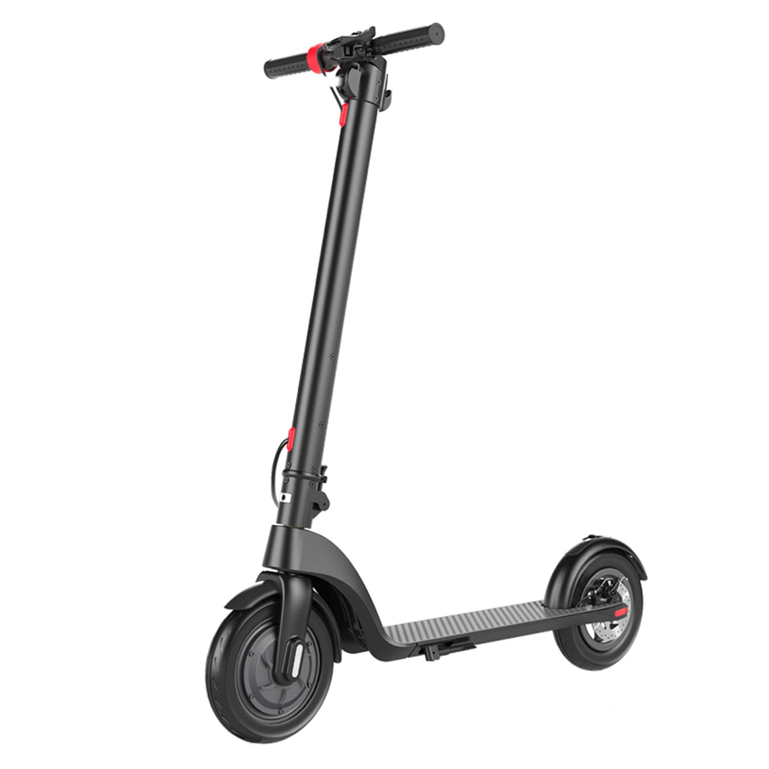 XULONG PEV10 Adult Electric Scooters Foldable, Detachable Lithium Battery 36V 6AH, 20KM Range 150 kg Max Load 25km/H with LED Light and LCD Display,10Inch