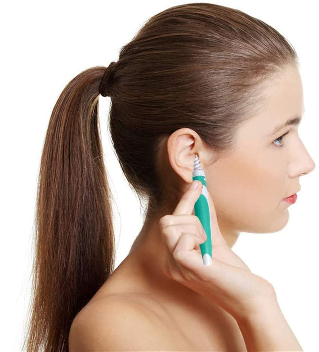Ohrenreiniger Geeignet F/ür Kinder und Erwachsene 360 Grad Spiral Ohrenschmalzentferner Mit 16 Ersatzk/öpfen sicher und weich
