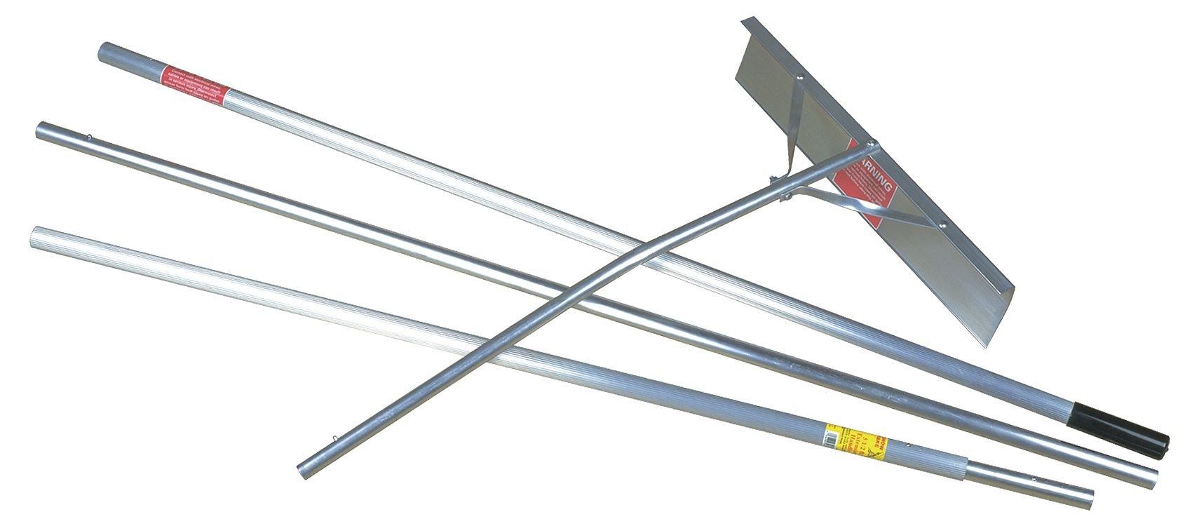 Snow Roof Rake Scraper, 24 in, 16 ft. by SEYMOUR MIDWEST RAKE